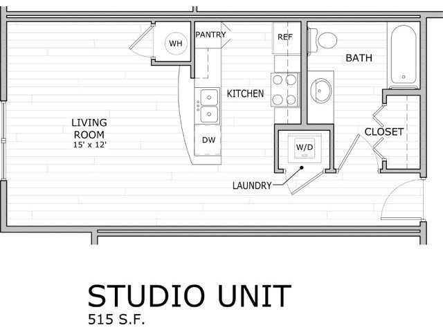 Studio 1 Bathroom Apartment for rent at Coryell Commons in Springfield, MO
