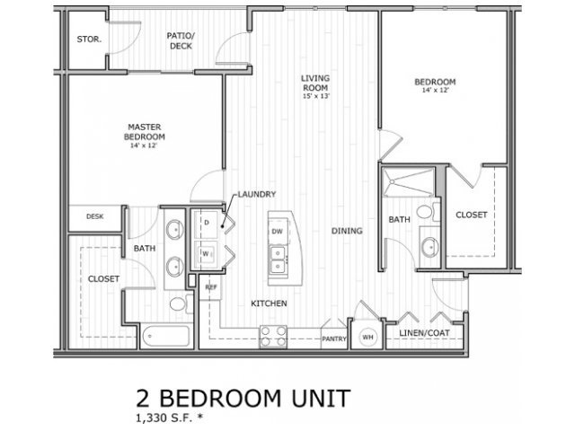 2 Bedrooms 2 Bathrooms Apartment for rent at Coryell Commons in Springfield, MO