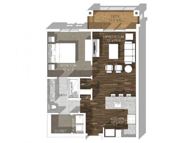 1 Bedroom 1 Bathroom Apartment for rent at Veranda Vistas in Springfield, MO