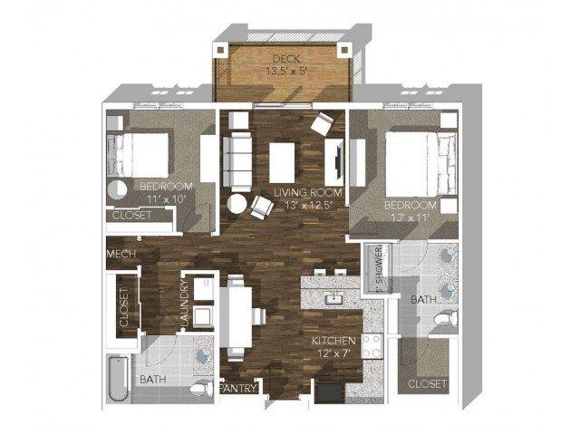 2 Bedrooms 2 Bathrooms Apartment for rent at Veranda Vistas in Springfield, MO