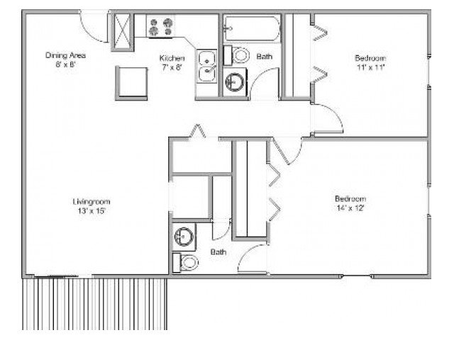 2 Bedrooms 1 Bathroom Apartment for rent at Essex Place Apartments in Springfield, MO