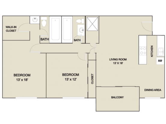 2 Bedrooms 2 Bathrooms Apartment for rent at Grand Arbor Reserve  in Raleigh, NC