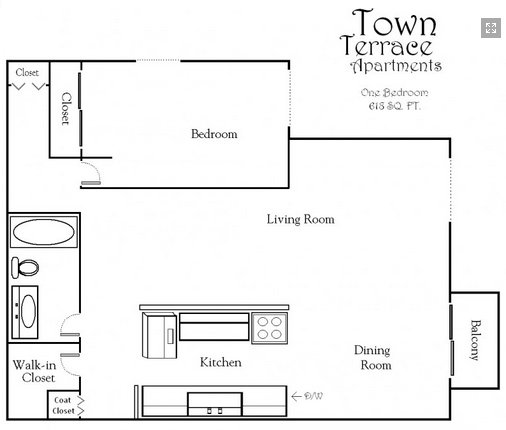 1 Bedroom 1 Bathroom Apartment for rent at Town Terrace Apartments in Hopkins, MN