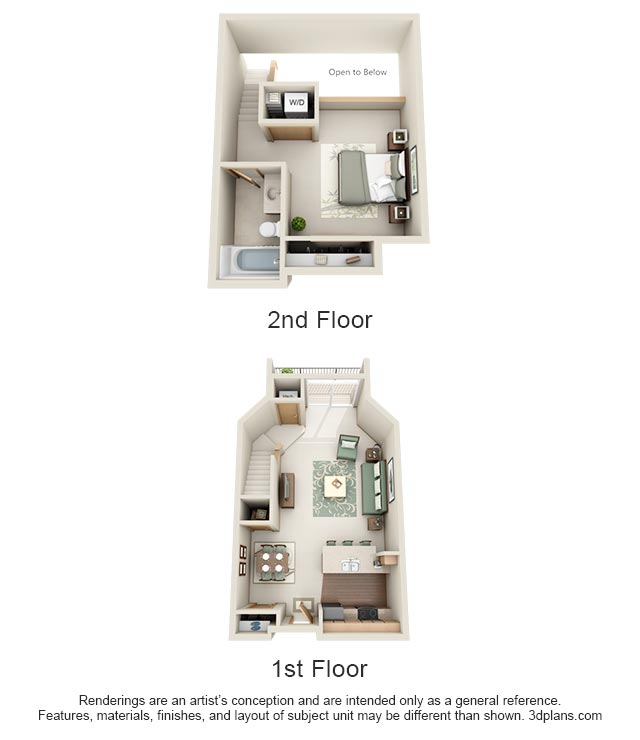 1 Bedroom 2 Bathrooms Apartment for rent at Stone Creek Gardens in Madison, WI