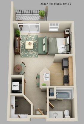 Studio 1 Bathroom Apartment for rent at Aspen Hill Apartments in Verona, WI