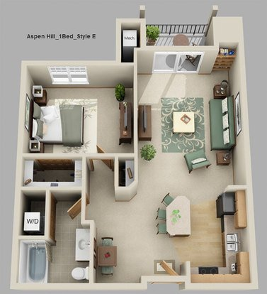 1 Bedroom 1 Bathroom Apartment for rent at Aspen Hill Apartments in Verona, WI