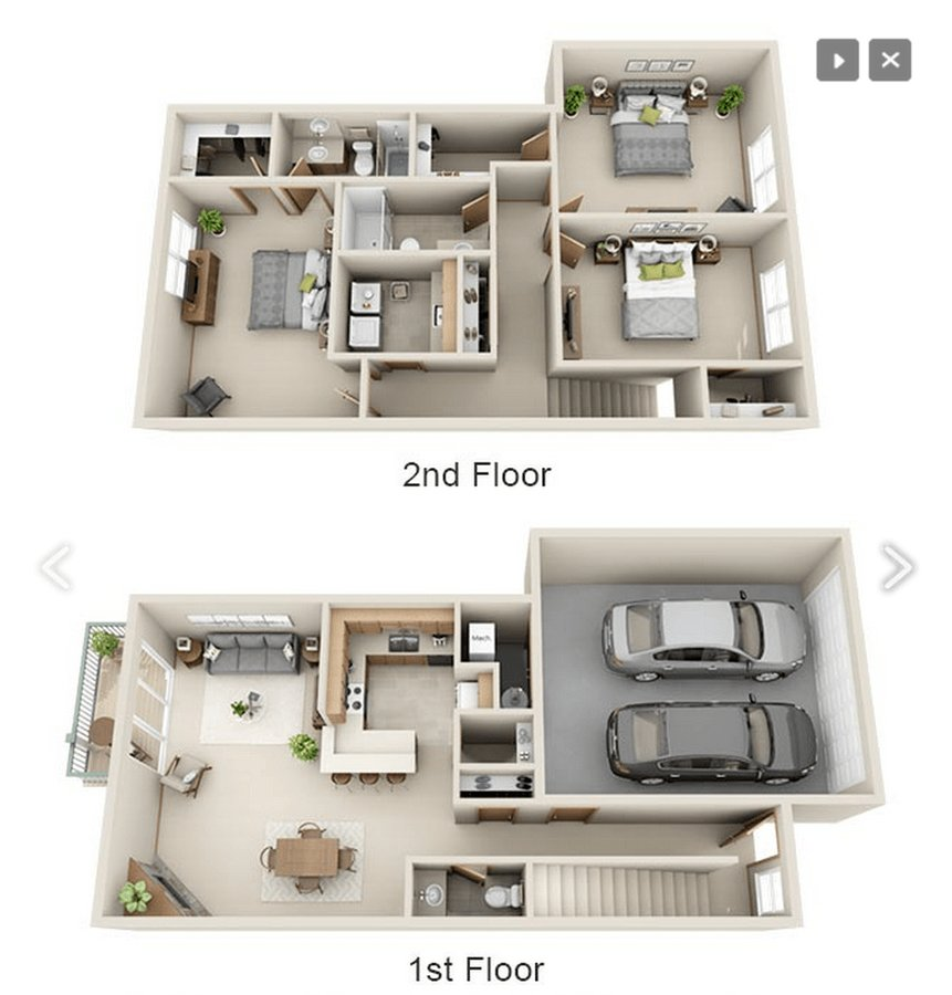3 Bedrooms 3 Bathrooms Apartment for rent at Woodland Glen Townhomes  in Fitchburg, WI