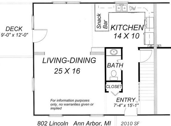 5 Bedrooms 2 Bathrooms House for rent at Lincoln Ave. At Hill Street in Ann Arbor, MI