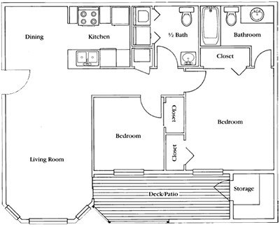 2 Bedrooms 2 Bathrooms Apartment for rent at Franklin Woods in Chapel Hill, NC