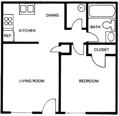 1 Bedroom 1 Bathroom Apartment for rent at Duke Manor in Durham , NC