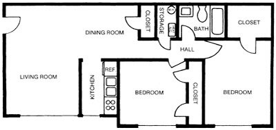 2 Bedrooms 1 Bathroom Apartment for rent at Royal Park in Carrboro, NC