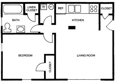1 Bedroom 1 Bathroom Apartment for rent at Kingswood in Chapel Hill, NC