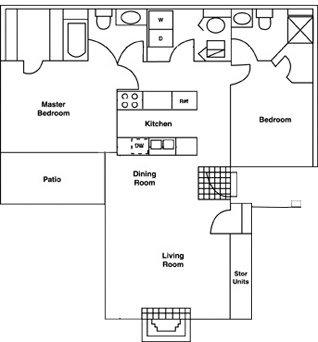 2 Bedrooms 2 Bathrooms Apartment for rent at Atrium in Durham, NC