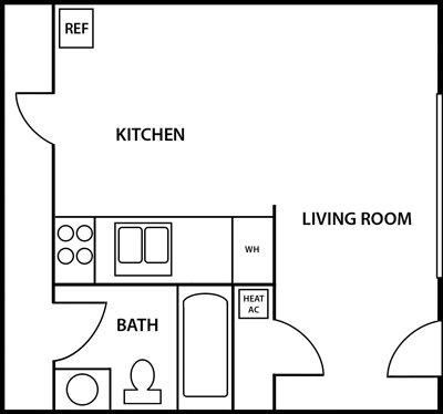 1 Bedroom 1 Bathroom Apartment for rent at Princeton Villas in Durham , NC