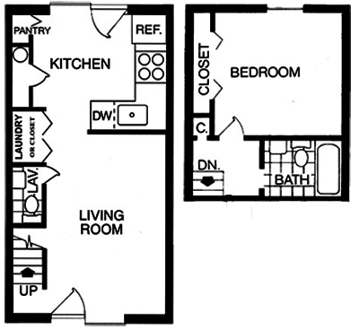 1 Bedroom 2 Bathrooms Apartment for rent at Brook Hill Apartment Homes in Raleigh, NC