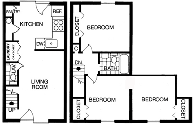 3 Bedrooms 2 Bathrooms Apartment for rent at Brook Hill Apartment Homes in Raleigh, NC