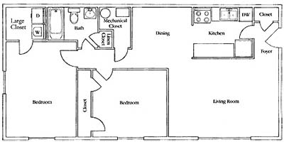 2 Bedrooms 1 Bathroom Apartment for rent at Pines of Ashton in Raleigh, NC