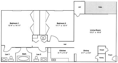 2 Bedrooms 2 Bathrooms Apartment for rent at Carolina Apartments in Carrboro, NC