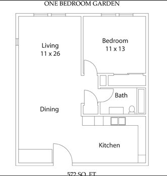 1 Bedroom 1 Bathroom Apartment for rent at Yearling Plaza in Columbus, OH