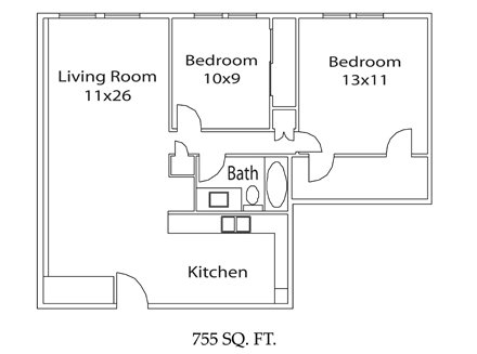 2 Bedrooms 1 Bathroom Apartment for rent at East Broad Plaza Apartments in Columbus, OH