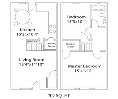 2 Bedrooms 1 Bathroom Apartment for rent at Janet Circle Apartments in Columbus, OH