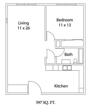 1 Bedroom 1 Bathroom Apartment for rent at Dublin Plaza Apartments in Columbus, OH
