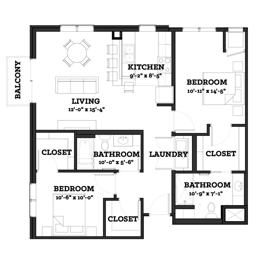 2 Bedrooms 2 Bathrooms Apartment for rent at The Paxon  in Minneapolis, MN