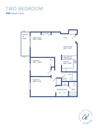 2 Bedrooms 2 Bathrooms Apartment for rent at Barrington Lakes Apartments in Hoffman Estates, IL