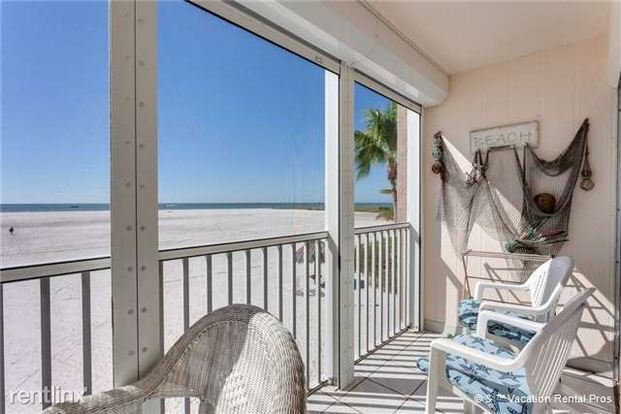 2 Bedrooms 1 Bathroom House for rent at Castle Beach 105, 2 Bedrooms, Gulf Front, Elevator, Heated Pool, Sleeps 6 in Fort Myers Beach, FL