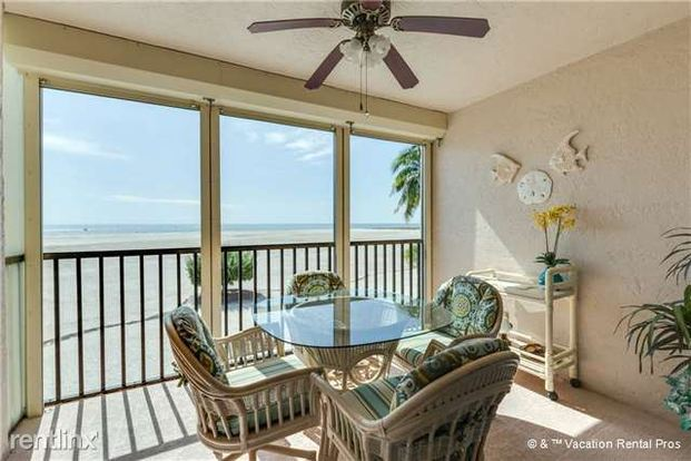 2 Bedrooms 2 Bathrooms House for rent at Carlos Pointe 212, 2 Bedrooms, Gulf Front, Elevator, Heated Pool, Sleeps 4 in Fort Myers Beach, FL