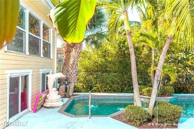 3 Bedrooms 2 Bathrooms House for rent at Dolphin Hideaway, 3 Bedroom, Private Heated Pool, Boat Dock, Sleeps 6 in Fort Myers Beach, FL