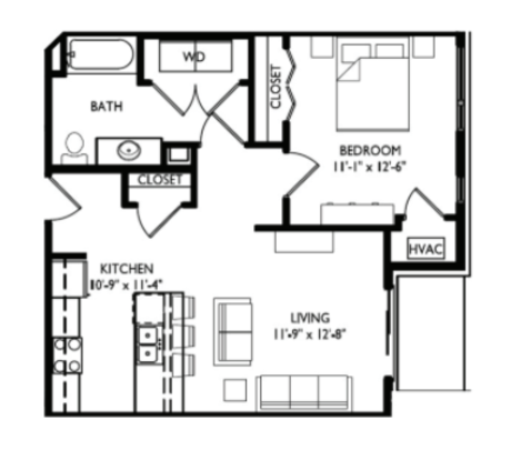 1 Bedroom 1 Bathroom Apartment for rent at Cornerstone in Madison, WI