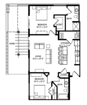 2 Bedrooms 2 Bathrooms Apartment for rent at Cornerstone in Madison, WI