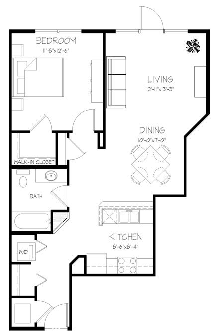 1 Bedroom 1 Bathroom Apartment for rent at Valencia Place in Middleton, WI