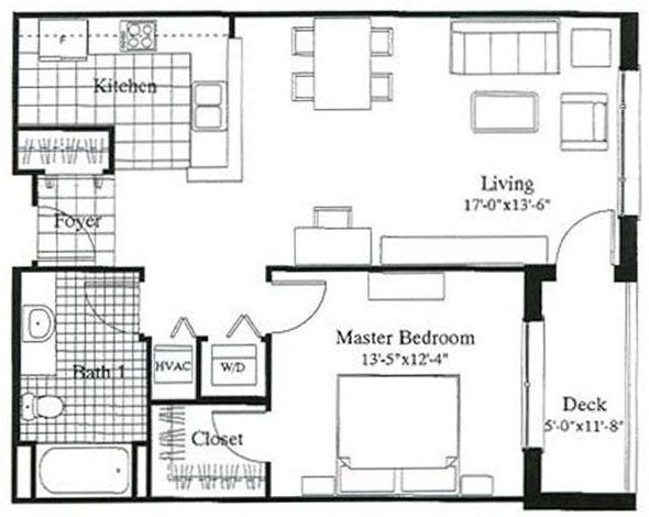 1 Bedroom 1 Bathroom Apartment for rent at City Gables in Madison, WI