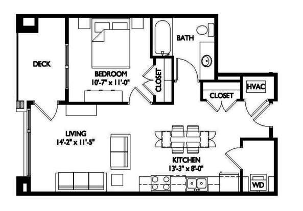1 Bedroom 1 Bathroom Apartment for rent at Velo 404 in Madison, WI