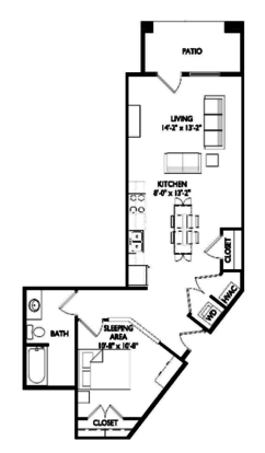 Studio 1 Bathroom Apartment for rent at Velo 404 in Madison, WI