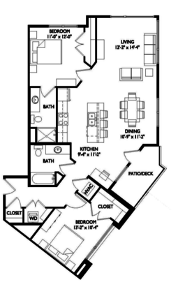 2 Bedrooms 2 Bathrooms Apartment for rent at Velo 404 in Madison, WI