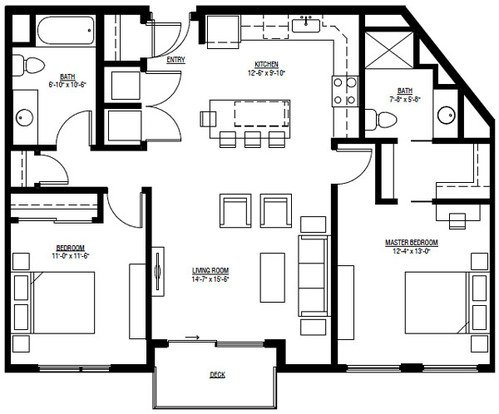 2 Bedrooms 2 Bathrooms Apartment for rent at University Row in Madison, WI