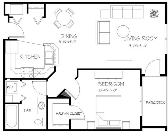 1 Bedroom 1 Bathroom Apartment for rent at Asana in Madison, WI