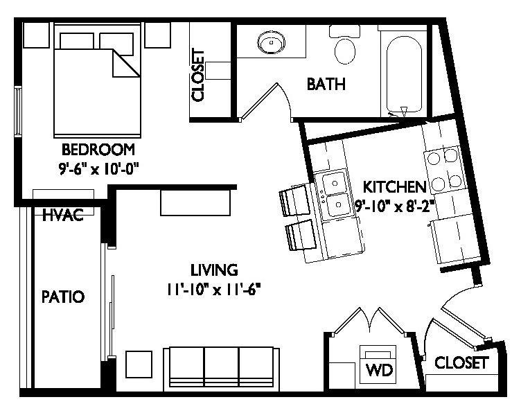 Studio 1 Bathroom Apartment for rent at Asana in Madison, WI