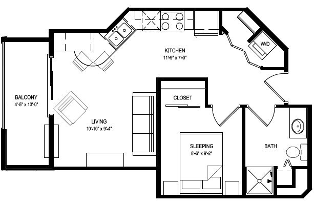 Studio 1 Bathroom Apartment for rent at Livingston Place in Madison, WI