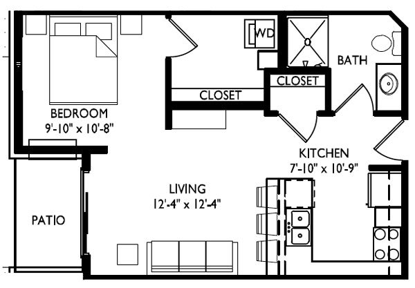 Studio 1 Bathroom Apartment for rent at Cornerstone in Madison, WI