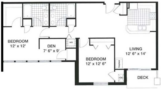 2 Bedrooms 1 Bathroom Apartment for rent at Kennedy Place in Madison, WI