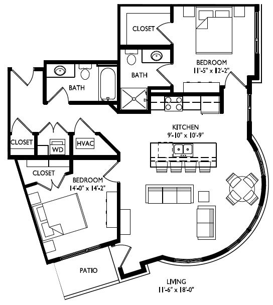 2 Bedrooms 1 Bathroom Apartment for rent at Cornerstone in Madison, WI