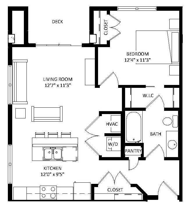 1 Bedroom 1 Bathroom Apartment for rent at Aventine in Madison, WI