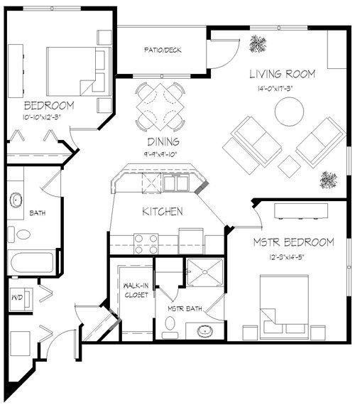 Studio 1 Bathroom Apartment for rent at Valencia Place in Middleton, WI