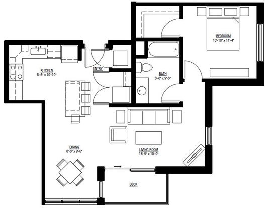 1 Bedroom 1 Bathroom Apartment for rent at University Row in Madison, WI
