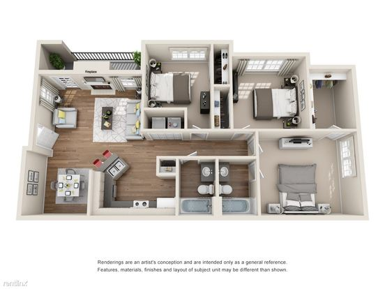 3 Bedrooms 2 Bathrooms Apartment for rent at Anderson Mill And 620 in Austin, TX