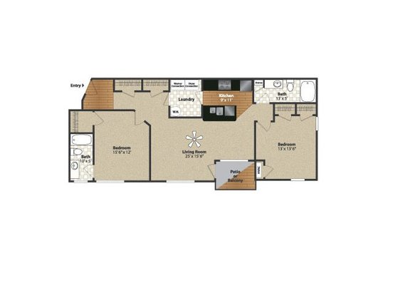 2 Bedrooms 2 Bathrooms Apartment for rent at Water's Bend in South Lebanon, OH